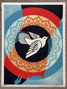 Obey Peace Dove Holiday 2020 Print by Shepard Fairey signed and numbered
