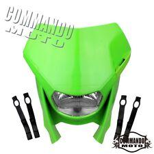 Enduro Green Head Light Lamp Headlight Fairing For KAWASAKI KX KLX KXF KDX 450