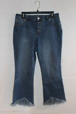 Women's INC ( International Concepts) Frayed Bottom Capri Jeans ~ Size 8