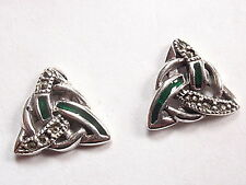 Marcasite Celtic Stud Earrings 925 Sterling Silver Corona Sun Jewelry post