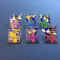 Tokyo Disneyland Days before 2001 Complete 6 Pin Set Disney Pin 3432 - 3437
