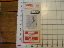 Vintage Weekly TV Log, Yonkers, New York, featuring Perry Como photo