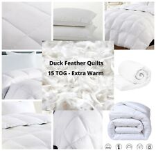 Supreme Quality Duck Feather & Down 15 TOG Quilts Extra Warm Duvet - All Sizes