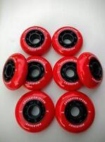 8 Indoor Hi-Lo Inline Roller Hockey Skate Wheels 4 76mm 4 80mm - x-soft 74a