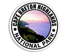 4x4 inch ROUND Cape Breton Highlands National Park Sticker  - decal Nova Scotia