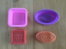 Silicone Soap Moulds - 100% handmade or SOAP mould - FREE POSTAGE!!