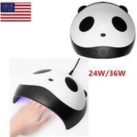 36W/24W Panda Uv Lamp Gel Nail Polish Curing Led Nail Lamp Manicure Machine T99