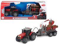 Dickie Toys Farm 203737001 - Massey Ferguson Mf 8737 & Dt-276 Anhänger - Neu