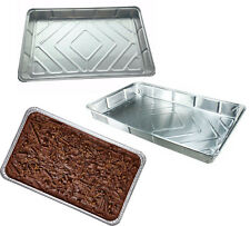 Large Aluminium Foil Dishes Tray Bake Pie Party Cake 30mm Deep x 10 Fruit Baking