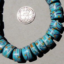 25 small old antique venetian fancy beads african trade #1874