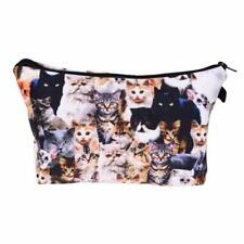 Travel Cosmetic Bag Cute Cat Printed Pattern Makeup Case Pouch Toiletry Organize