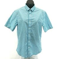 HARLEY-DAVIDSON Womens Gingham Woven Short Sleeve Button Up Shirt 96062-18VW