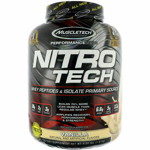 MuscleTech Nitro Tech Whey Protein 4 lbs, 40 Servings PICK FLAVOR