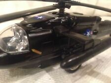 """3pc Set 8"""" Black Hawk Helicopter Diecast Army Military Model Airplane Toy"""