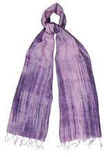 Dusty Pink and Lilac Pure Silk Scarf - Fair Trade BNWT 180cm x 80cm