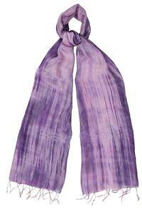 Pure Silk Pink/Lilac dyed Scarf - Fair Trade BNWT 180cm x 80cm