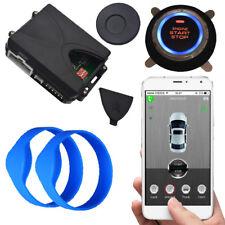 gps car alarm with mobile app car security alarm system push button start stop