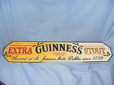 More details for guinness extra stout sign cast iron garage man cave wall sign shed bar pub 56cm