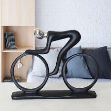 Art Deco Sculpture Abstract Bicycle Rider Resin Statue Bike Racing Figurine