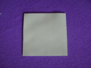100MM x 100MM 10CM SQ. 1.5MM THICK GREY THERMAL SILICONE HEAT SINK TRANSFER PAD
