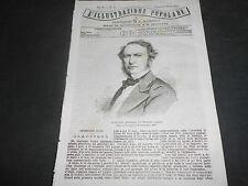 1871 GLADSTONE PRIMO MINISTRO INGLESE FERROVIA DEL FREJUS