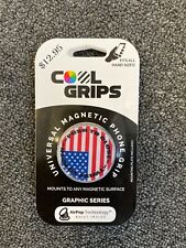 CoolGrips magnetic Phone Grip and Stand Collapsible cell USA American Flag