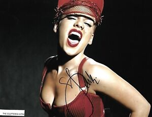 Music Superstar PINK . Hand signed 8x10 Colour photo w COA.