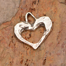 Sterling Silver Heart Charm // Open Heart Charms // Artisan Charms // H-732