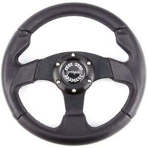 280mm Steering Wheel Brushed Aluminium