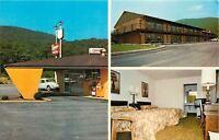 Dalton Georgia~Knights Inn Motel~Volkswagen~Guest Room TV~Office~1960s
