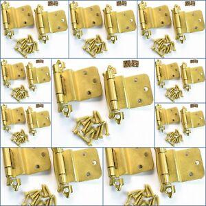 (10 Pairs) New Amerock BP7328-074 Offset Cabinet Hinges Self-Closing Satin Brass