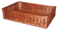 Natural Wicker Basket 400mm x 300mm x 100mm - Steamed