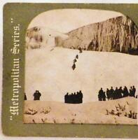 Antique Stereoview Ice Mountain Niagara Falls New York Metropolitan Series 916