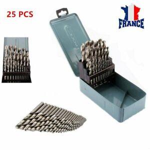 Métal HSS Métrique Forets Set 25pc Packs 1 To 13mm pour Acier & Bois