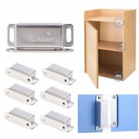 10 Pack Stainless Steel Magnetic Door Drawer Cabinet Cupboard Catch Touch Latch