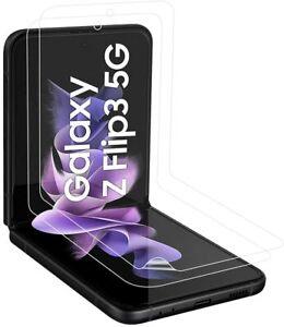 2X Panzerfolie für Samsung Galaxy Z Flip 3 5G Display Glasfolie TPU Anti-Schock