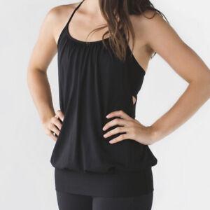 Lululemon Athletic Layered Black Tank Top Size 10
