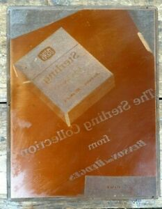 CIGARETTE ADVERTISING BENSON HEDGES STERLING COLLECTION PRINTING PLATE COPPER