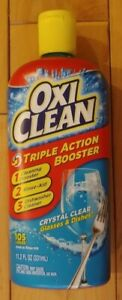 Oxi Clean Triple Action Booster Crystal Clear Dishwasher Rinse Drying Aid 11.2oz