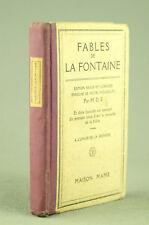 FABLES DE LA FONTAINE à l'usage de la jeunesse MAME 1935 Livre ancien book