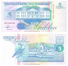 Suriname 5 Gulden 1991 P-136a Banknotes UNC