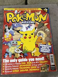 Very Rare Vintage Pokemon Magazine Featuring PIKACHU Cover Dated September 2000