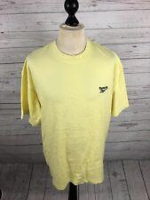 REEBOK Retro T-Shirt - XL - Yellow - Great Condition - Men's