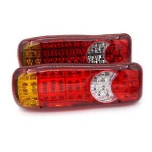 12V 2PCS 46 Led Rear Tail Truck Lights Lorry VAN For Scania Volvo Daf Man Iveco