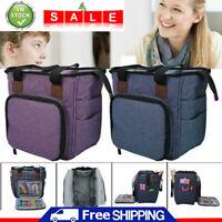 Portable Knitting Tote Bag Wool Crochet Storage Bags Sewing Needles Organizer UK