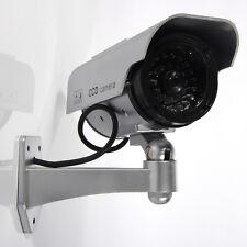 Solar Power Fake Dummy Camera Blinking LED Surveillance Security CCTV