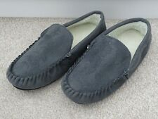 BNWOT Men's Grey Synthetic Suede Moccasin-Style Slippers Size 8 (more like a 7)