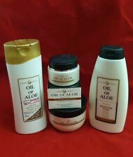 JOB LOT 4 X Oil of Aloe PRODUCTS Lotion, Vit E & Anti-Wrinkle & CONDITIONER