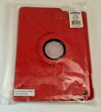 iPad 3/4 Red Leather Case Rotating 360