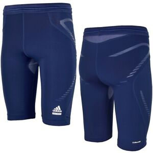 Adidas Techfit Power Men's Compression Shorts Tight Trousers Cycling Briefs Navy